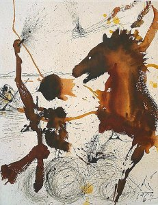 By Dalí - Woman and horse