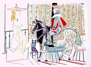 By Picasso - A king and a model