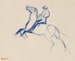 By Degas - Jockey on horseback
