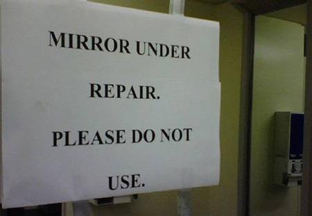 mirror_under_repair